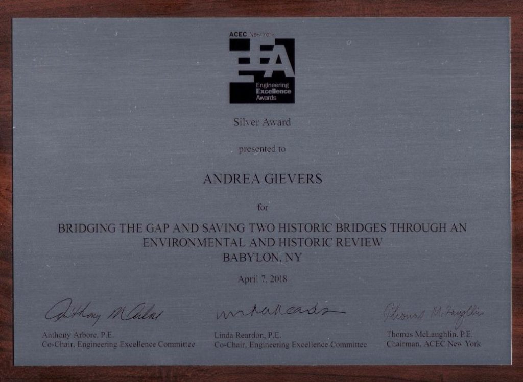 Andrea Gievers ACEC Award